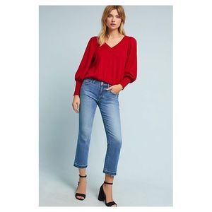 Anthro Pilcro High Rise Cropped Flare Jeans